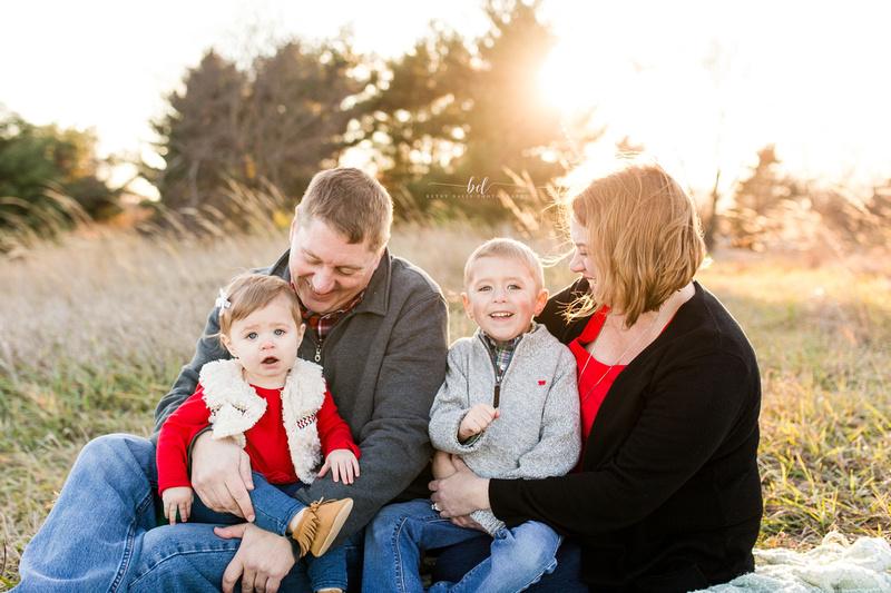 Saint Joseph Mo outdoor family photos sunset