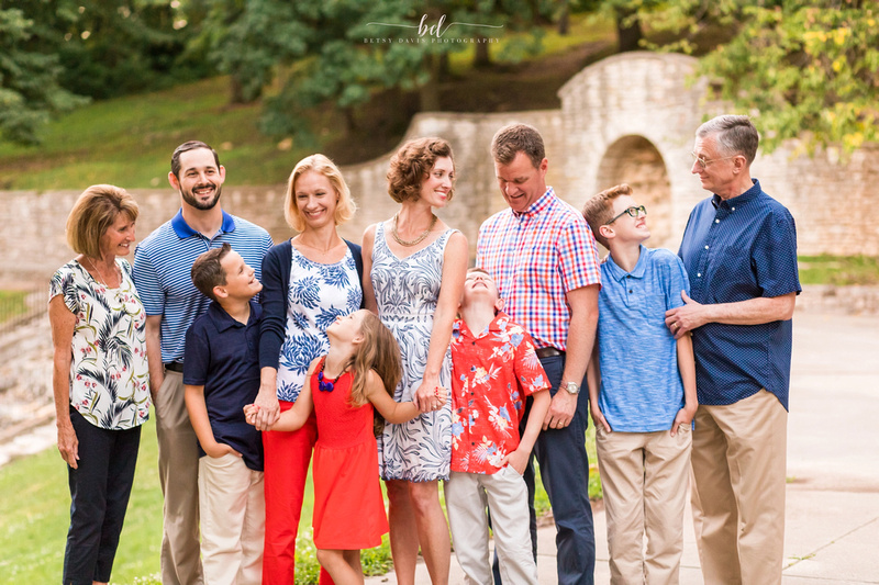 Saint Joseph Family Photography, Saint Joseph Krug Park Extended Family Session