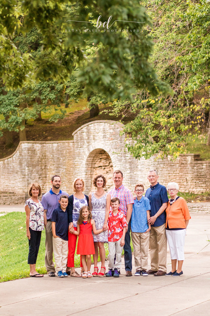 Saint Joseph Family Photography, Saint Joseph Krug Park Extended Family Session