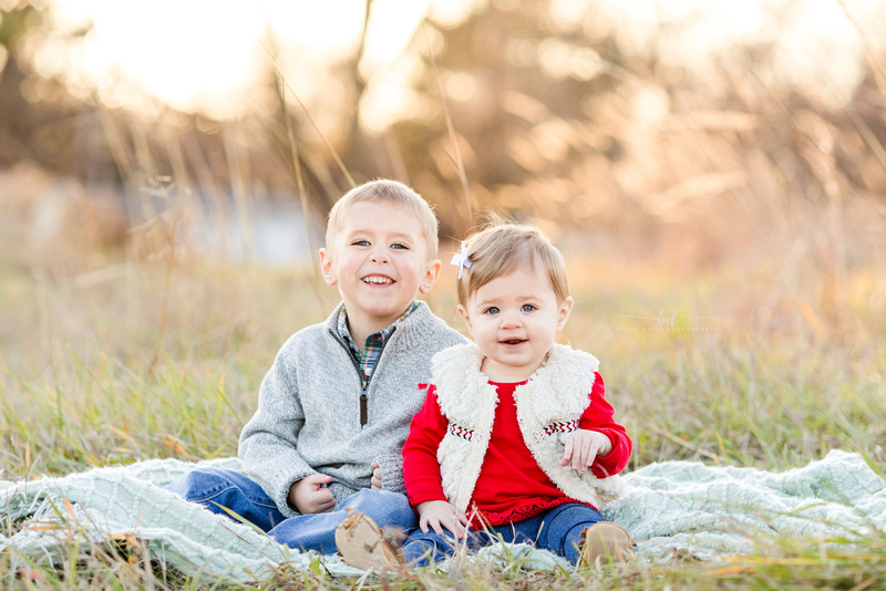 Saint Joseph Mo outdoor family photos sunset